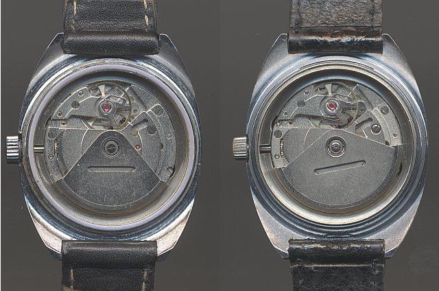 different rotors: Left Quelle, right GDR model